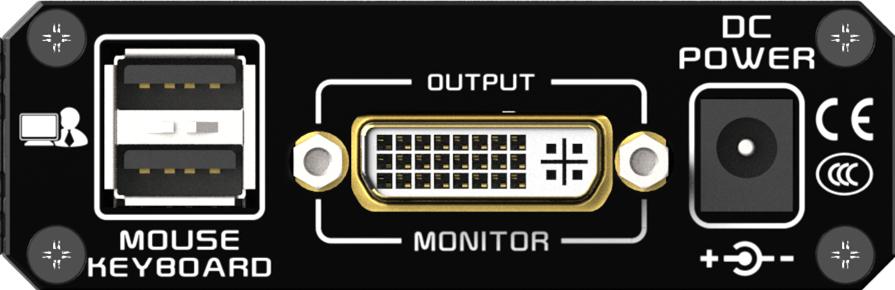 KDX-2240接收端后面板