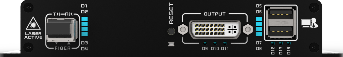 KDX-2546接收端前面板