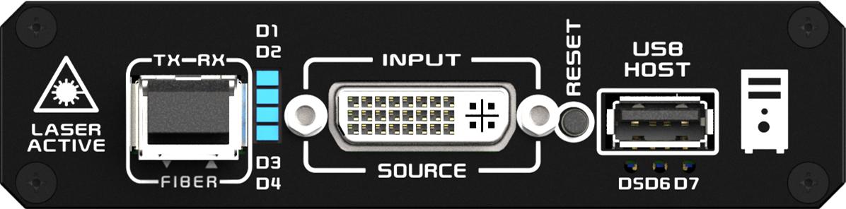 KDX-5246发送端前面板