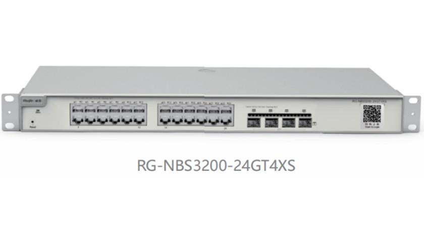 RG-NBS3200-24GT4XS24口千兆接入万兆上联二层网管交换机