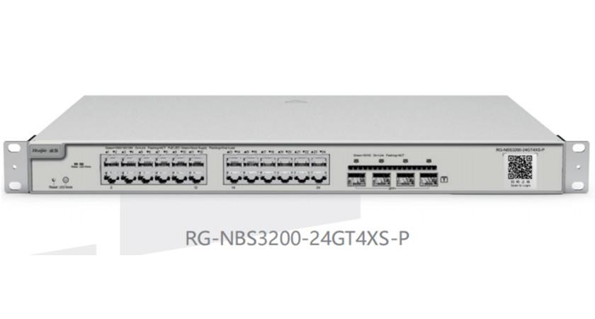 RG-NBS3200-24GT4XS-P24口千兆接入万兆上联二层网管PoE交换机