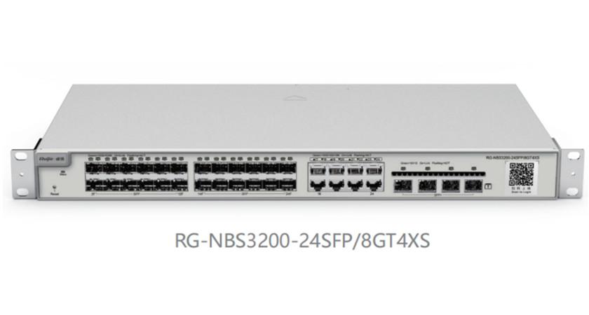 RG-NBS3200-24SFP/8GT4XS24口千兆光口可复用万兆上联二层网管交换机