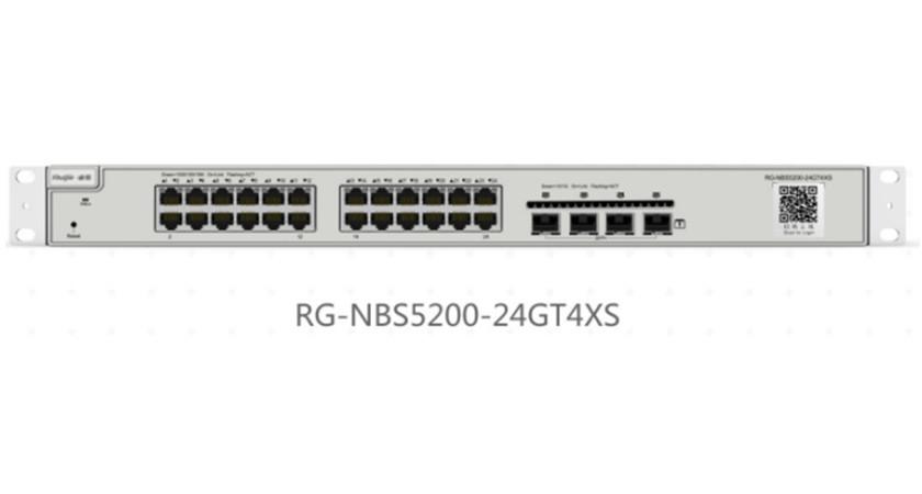 RG-NBS5200-24GT4XS24口千兆接入万兆上联三层网管交换机