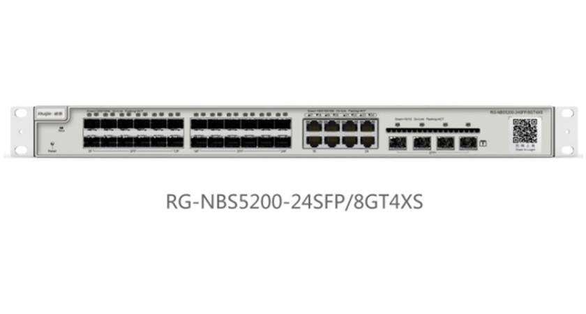 RG-NBS5200-24SFP/8GT4XS24口千兆光口可复用万兆上联三层网管交换机