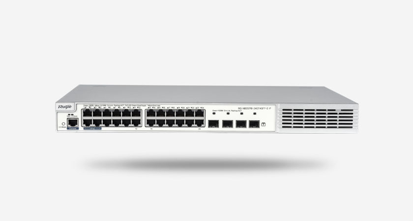 RG-NBS5710-24GT4SFP-E-P安全多业务高性能三层交换机