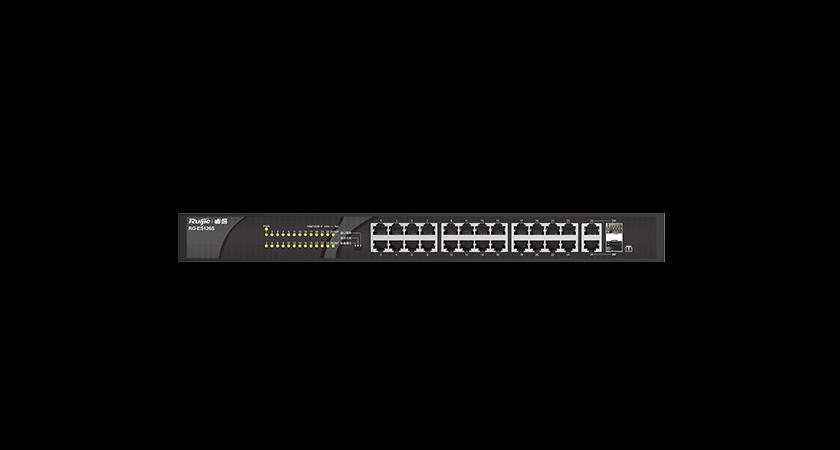 RG-ES126S 24口百兆接入千兆光电上联非网管型交换机