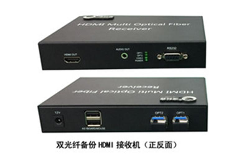 武汉双光纤备份hdmi光端机