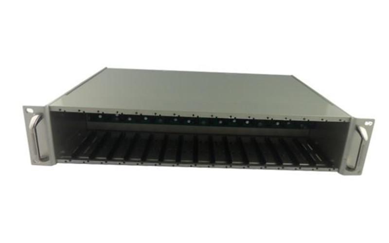 武汉光纤收发器机架 16槽光纤机架 卡式收发器机架