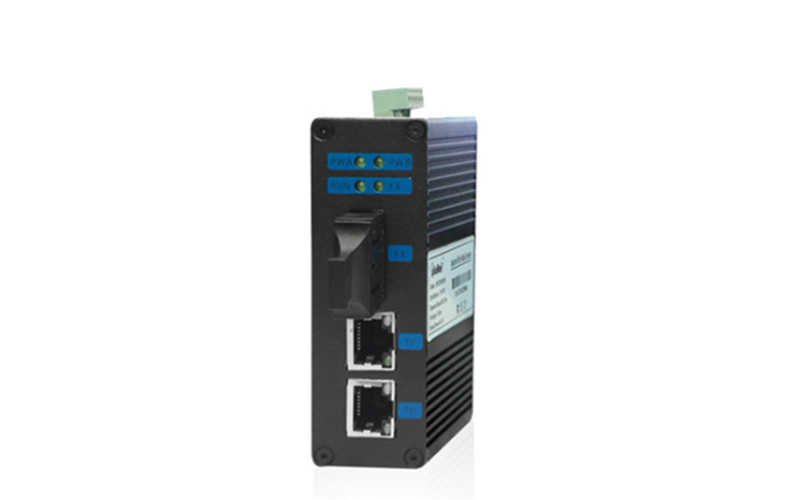 武汉小型百兆1光2电工业级光纤收发器