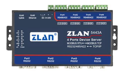 武汉4串口RS232/485/422转TCP/IP协议转化器