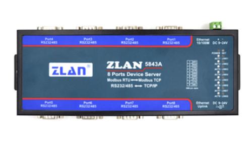 武汉8串口RS232/485转TCP/IP协议转化器