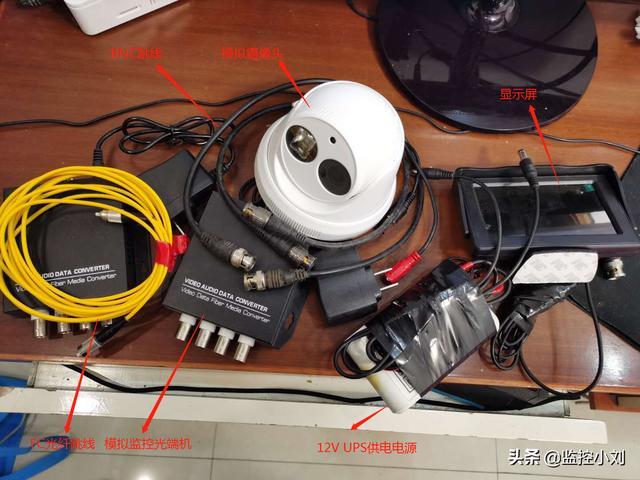 监控模拟视频光端机连接使用图解
